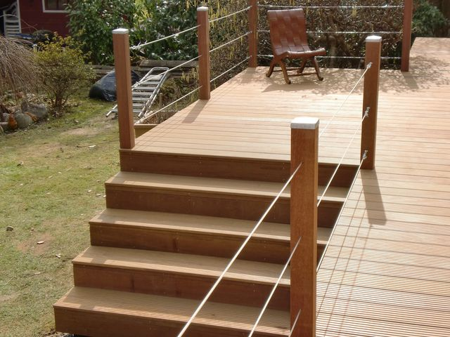 Terrasse on pinterest garten wooden pallet furniture - Terrasse treppe selber bauen ...